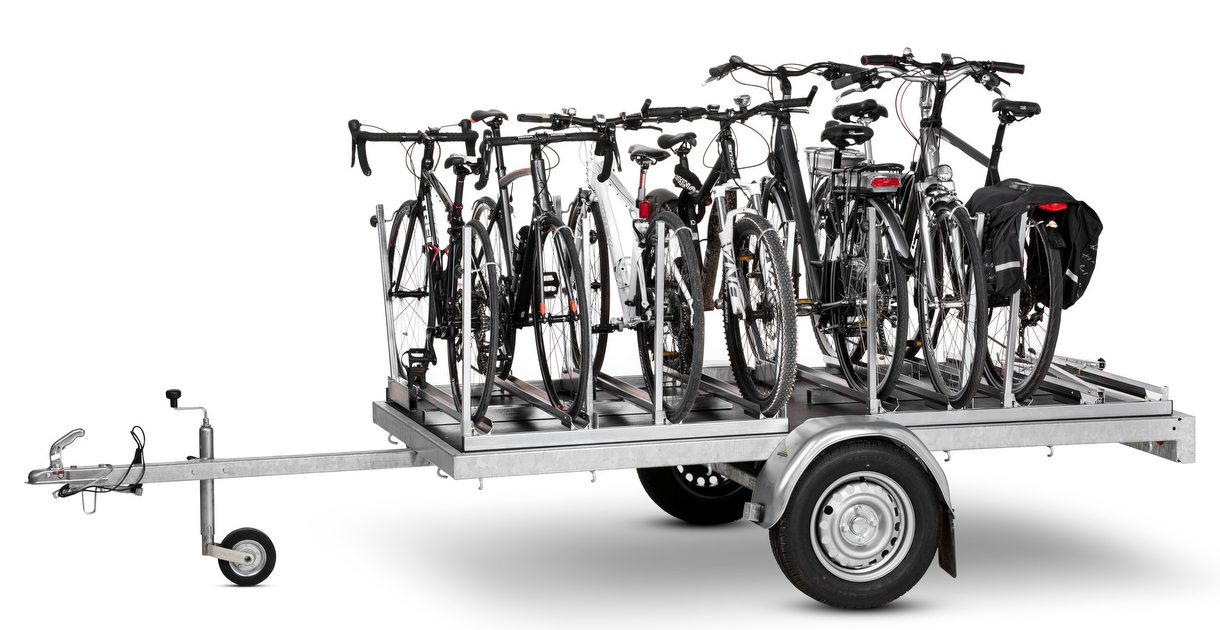 Vk Bicycle Trailer For Max 12 Bicycles Vk International